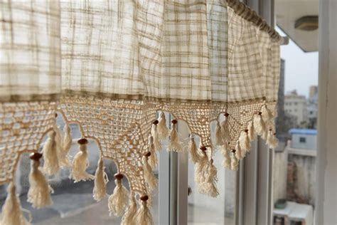 french country style checked kitchen curtains tier