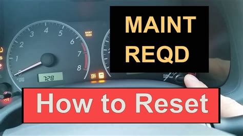 reset oil maintenance required light