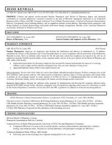 best resume template for pharmacist pharmacist resume exle resume badak