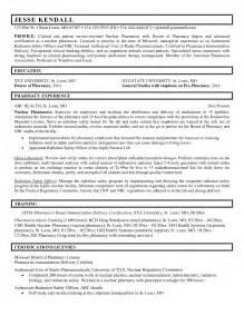 resume of a pharmacist pharmacist resume exle resume badak