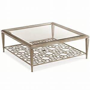 Caracole caracole classic quotsociablesquot 50 inch square for 50 inch square coffee table