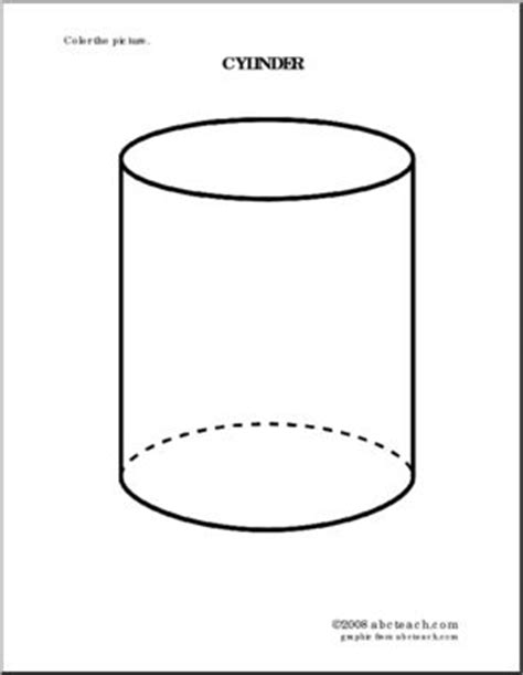 coloring page cylinder abcteach