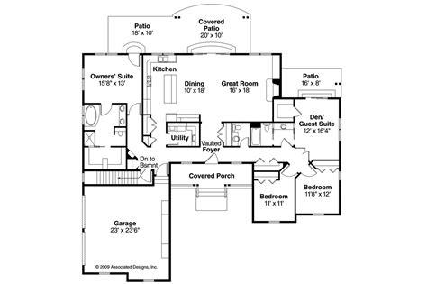 ranch floorplans ranch house plans heartville 10 560 associated designs