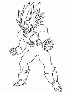 Dragon Ball Z Coloring Pages Vegeta Coloring Home