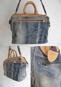 Lee denim turned into DIY bag based on Krane design | Jeans | Pinterest