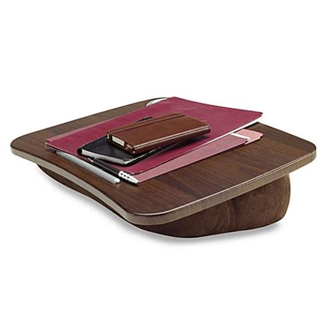 bed bath and beyond computer lap desk brookstone e pad portable laptop desk in chocolate bed