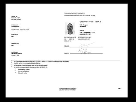 texas drivers permit temporary drivers permit drivers