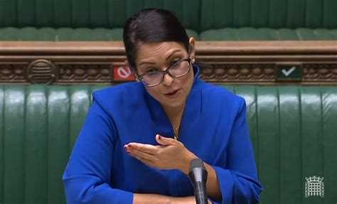 Priti Patel calls on Black Lives Matter protesters to stay ...