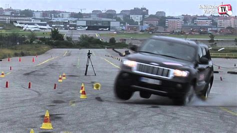 jeep grand cherokee moose test  full story youtube