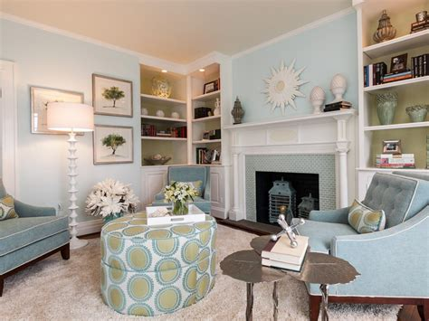 Blue And Green Living Room Sitting Area Hgtv