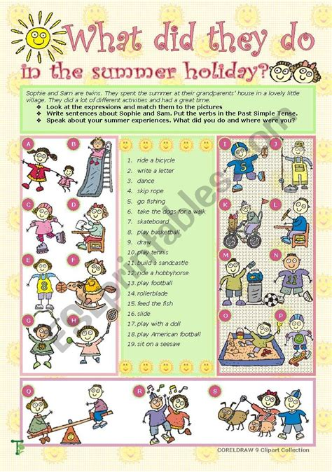 What did they do in the summer holiday? - ESL worksheet by ...