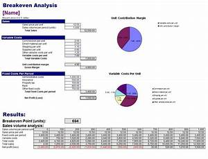 breakeven analysis template breakeven analysis With break even point excel template
