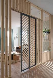 Separateur De Piece Bois : cloison amovible cloison coulissante meuble cloison ~ Farleysfitness.com Idées de Décoration