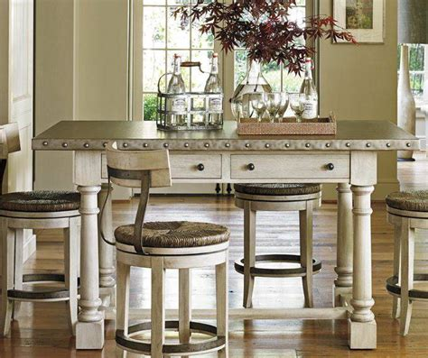 white distressed wood table     home home