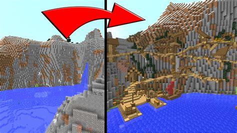 minecraft   build  village   mountain side youtube