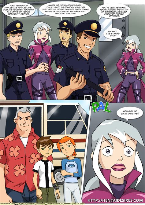 [palcomix] early parole ben 10 octopus fuck gwen and charmcaster