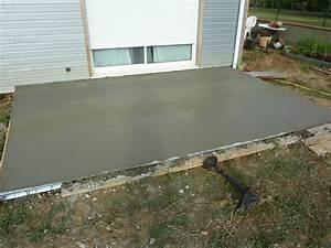 pose terrasse bois composite sur dalle beton 11 pente With pente terrasse bois composite