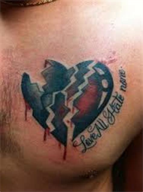 broken heart tattoo  represent symbolism