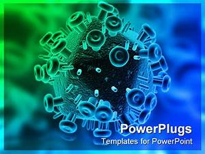 hiv virus powerpoint template background of aids With virus powerpoint template free download