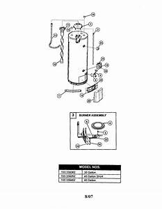 Kenmore 153339262 Gas Water Heater Parts