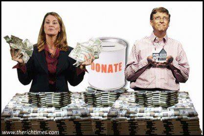 bill gates donates entire fortune  charity