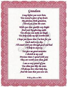 free happy birthday grandson cards grandson poem is for With letter my first grandson