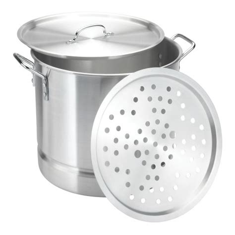 large steamer pot brand new aluminum 32 quart cooking large stock steamer 3669