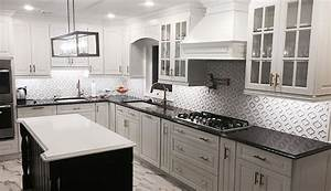 gramercy white kitchen cabinets With best brand of paint for kitchen cabinets with metal square wall art