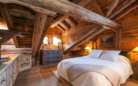 chambre à coucher rustique décoration intérieur chalet montagne 50 idées inspirantes