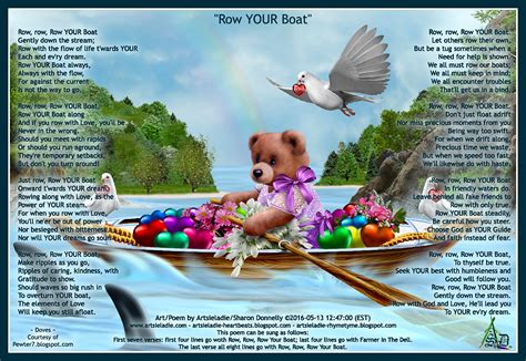 Row Your Boat Second Verse by Artsieladie Heartbeats Row Your Boat