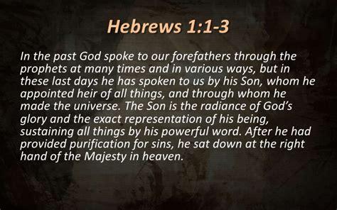 nt vistas   christ supremacy hebrews