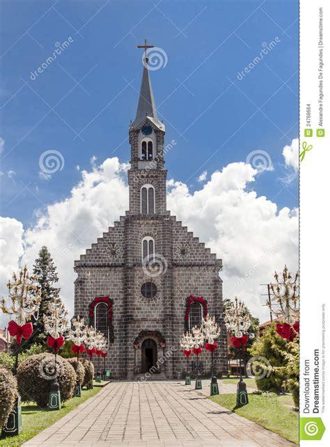 saint peter church gramado brazil stock images image