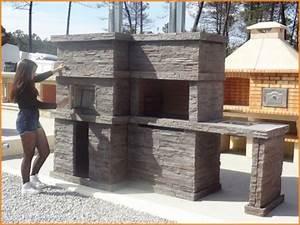 Barbecue De Jardin : barbecue en pierre et four a bois pour jardin pr4740f ~ Premium-room.com Idées de Décoration