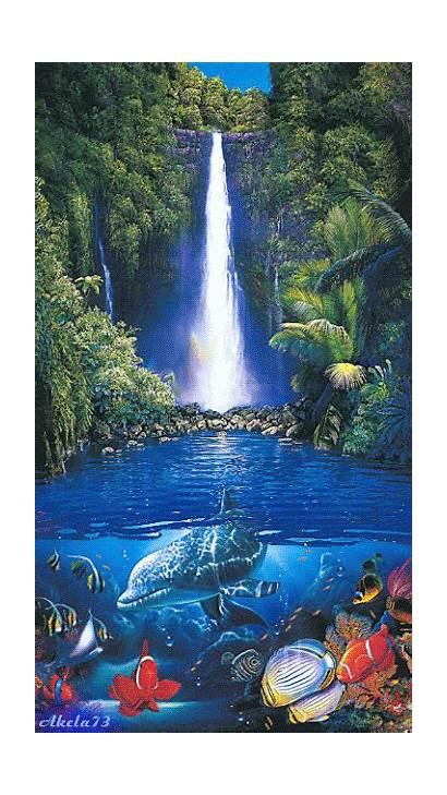 Water Nature Waterfalls Google Gifs Dolphin Scenery
