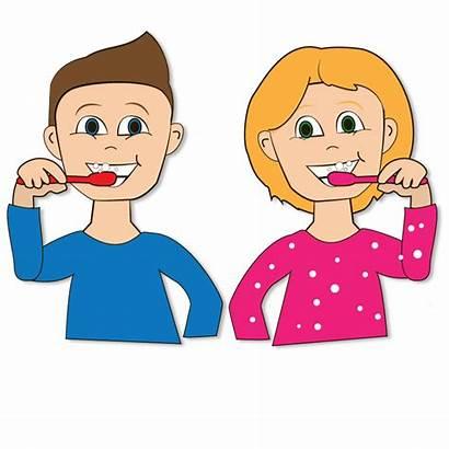 Teeth Brushing Clipart Brush Children Toothbrushing Tooth
