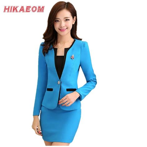 Handy side pockets and a relaxed fit make the beauty top practical and comfortable to wear. Women Office Uniform Designs Sets Women's Wear Suits ...