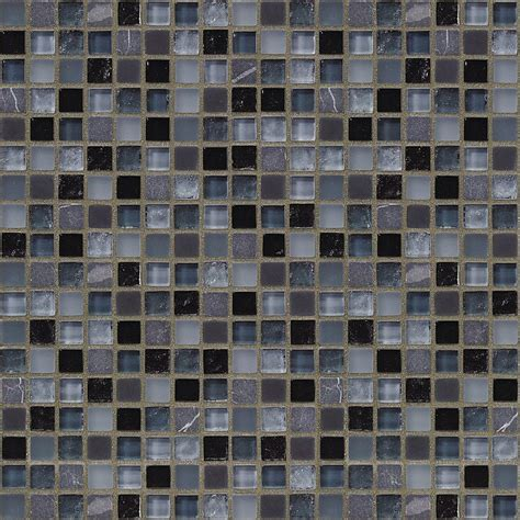 Jeffrey Court Mosaic Tile by Jeffrey Court Black Azure 12 In X 12 In 8 Mm Glass
