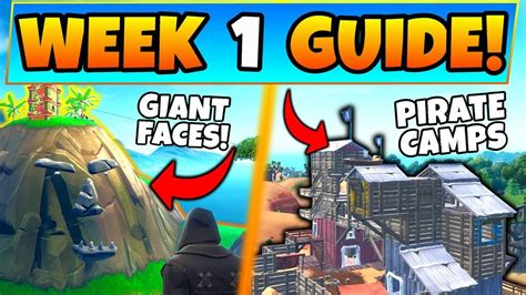 fortnite week  challenges guide pirate camps giant