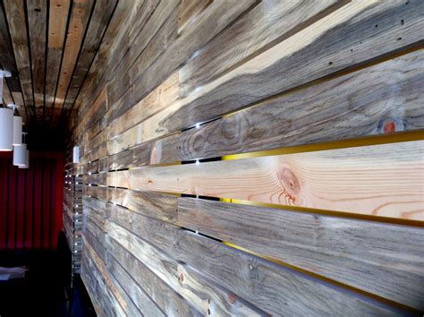 1x4 beetle kill pine slat wall from sustainable lumber co