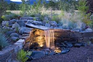 Brunnen Garten Modern : st tzmauer mit garten brunnen selber bauen naturstein ~ Michelbontemps.com Haus und Dekorationen