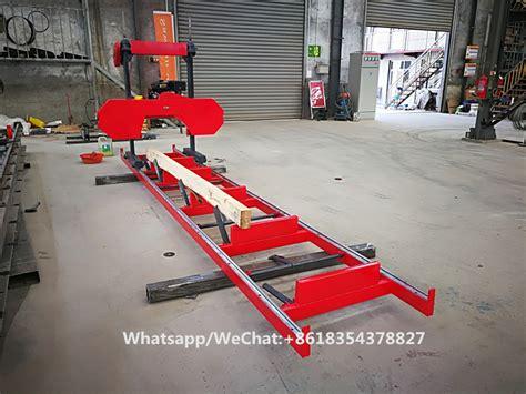 wood cutting hydraulic horizontal bandsaw electric sawmill