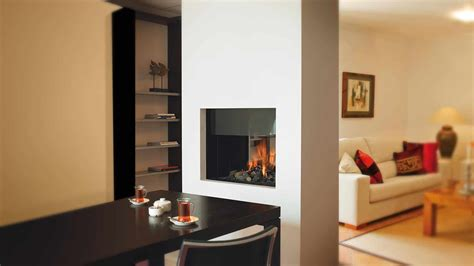 functional double sided fireplaces   spacious