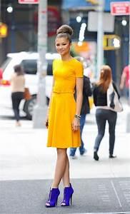 Farben Kombinieren Kleidung : elegante kleider kleid gelb damenkleider g nstige kleider kleider ~ Orissabook.com Haus und Dekorationen