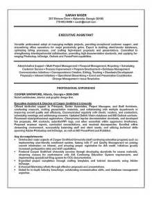 administrative assistant resume skills profile exles executive assistant resume exle sle