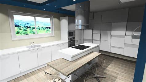 cuisine blanche avec ilot central cuisine design blanche