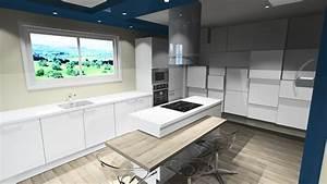 Cuisine Avec Ilot : cuisine design blanche ~ Melissatoandfro.com Idées de Décoration