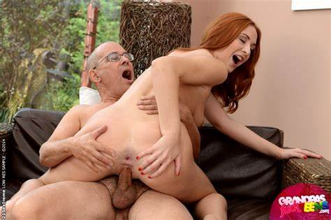Grandpa Taking A Teens With Ginger