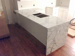 Waterfall Counter - Artistic Stone Kitchen and