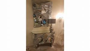 Console Miroir Pas Cher : achetez votre console miroir prisma design 126 x 38 pas cher sur ~ Teatrodelosmanantiales.com Idées de Décoration