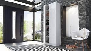Schuhregal Weiß Hochglanz : schuhschrank schuhregal diele flur schrank vaasa in wei hochglanz naturt ne ebay ~ Indierocktalk.com Haus und Dekorationen